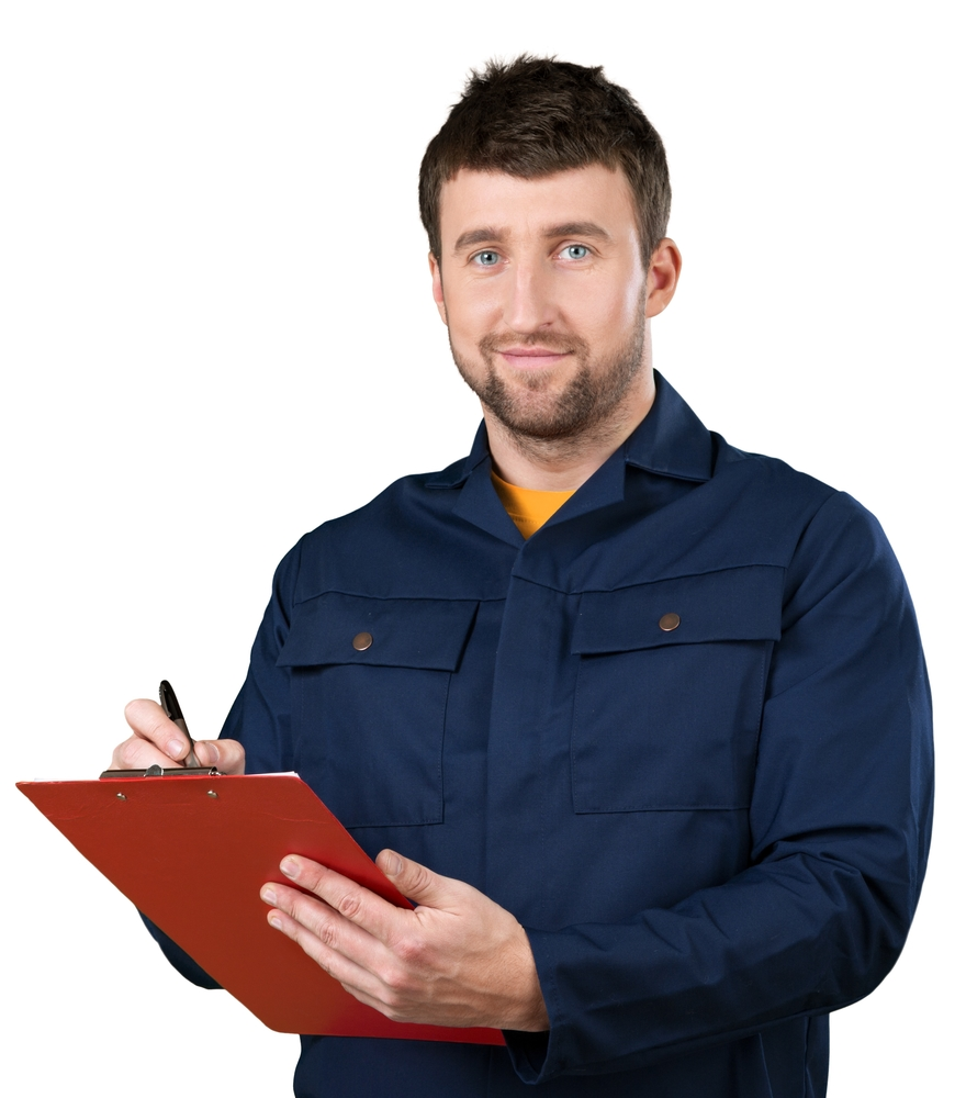 technician with clipboard